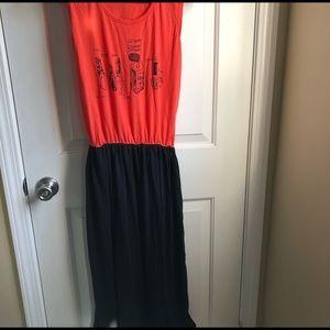 Other - blood orange sleeveless dress with black bottom